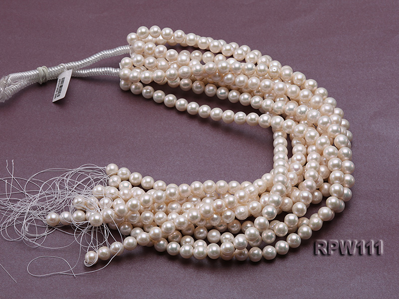 Super High-quality 10-11mm Classic White Round Freshwater Pearl String big Image 4