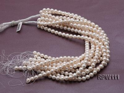 Super High-quality 10-11mm Classic White Round Freshwater Pearl String RPW111 Image 4