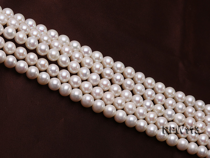 Wholesale 10mm Classic White Round Freshwater Pearl String big Image 3