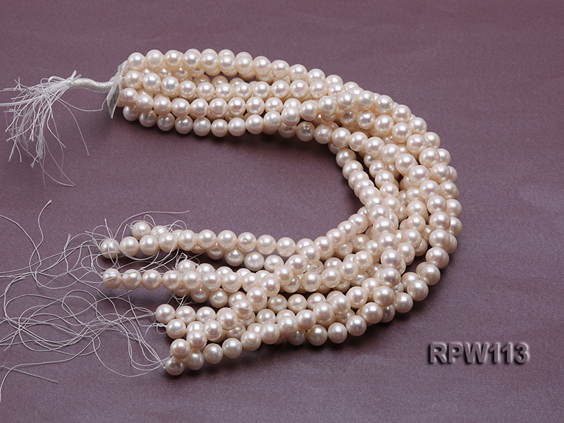 Wholesale 10mm Classic White Round Freshwater Pearl String big Image 4