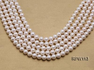 Wholesale 10mm Classic White Round Freshwater Pearl String RPW113 Image 1
