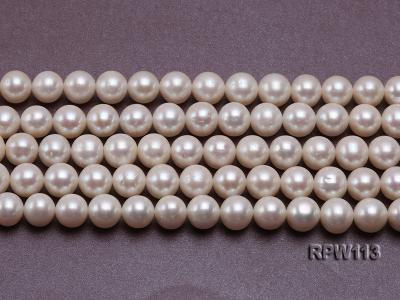 Wholesale 10mm Classic White Round Freshwater Pearl String RPW113 Image 2