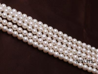 Wholesale 10mm Classic White Round Freshwater Pearl String RPW113 Image 3