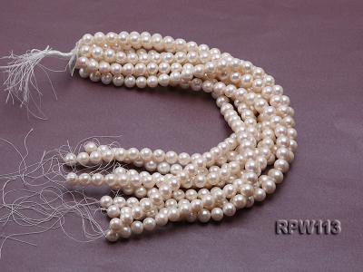 Wholesale 10mm Classic White Round Freshwater Pearl String RPW113 Image 4