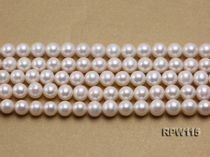 Wholesale 8.5-9mm Classic White Round Freshwater Pearl String big Image 2