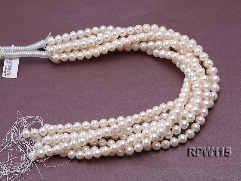 Wholesale 8.5-9mm Classic White Round Freshwater Pearl String big Image 3