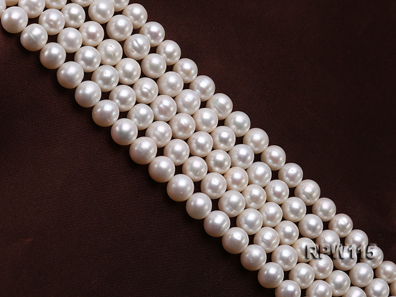 Wholesale 8.5-9mm Classic White Round Freshwater Pearl String big Image 4