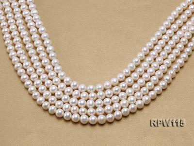 Wholesale 8.5-9mm Classic White Round Freshwater Pearl String RPW115 Image 1