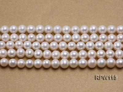 Wholesale 8.5-9mm Classic White Round Freshwater Pearl String RPW115 Image 2