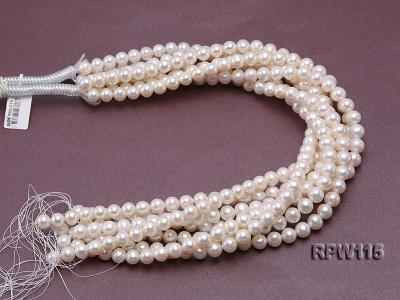 Wholesale 8.5-9mm Classic White Round Freshwater Pearl String RPW115 Image 3