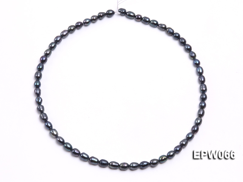 Wholesale 5.5X7.5mm  Rice-shaped Freshwater Pearl String big Image 3