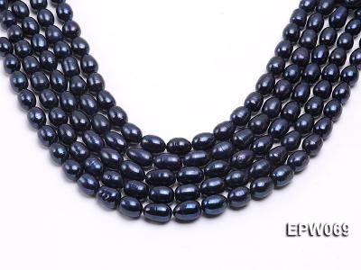 Wholesale 10x13mm Rice-shaped Freshwater Pearl String EPW069 Image 2