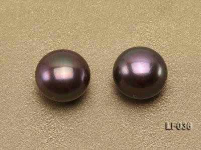 Wholesale Cards of 11-12mm Black Flat Freshwater Pearls---16 Pairs LF036 Image 4