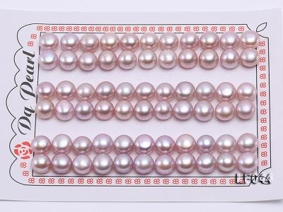 Wholesale Cards of  8.5-9mm Pink Flat Freshwater Pearls---33 Pairs LF044 Image 1