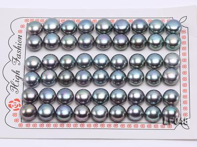 Wholesale Cards of 9.5-10mm Black Flat Freshwater Pearls---27 Pairs LF048 Image 1
