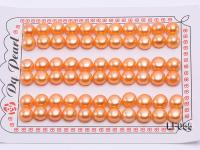 Wholesale Sheets of 8-8.5mm Orange Flat Pearls---33 Pairs LF055