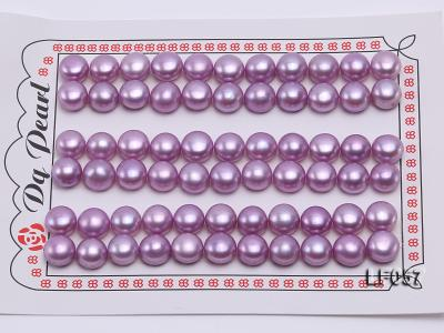 Wholesale Cards of 10-10.5mm Pink Flat Pearls---33 Pairs LF057 Image 1