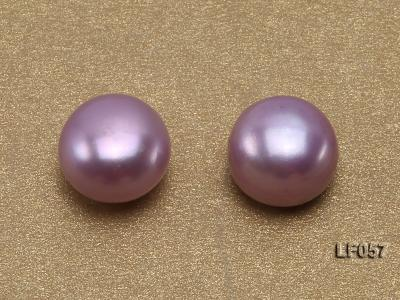 Wholesale Cards of 10-10.5mm Pink Flat Pearls---33 Pairs LF057 Image 2