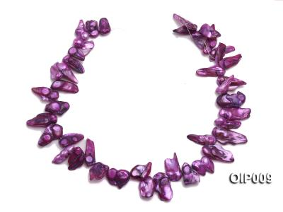 Wholesale & Retail 12x25mm Lavender Irregularly-shaped Pearl String OIP009 Image 3