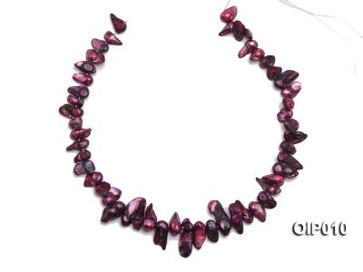 Wholesale & Retail 12x25mm Dark Purple Irregularly-shaped Pearl String OIP010 Image 3