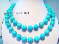 14mm blue round Turquoise Necklace GNT091