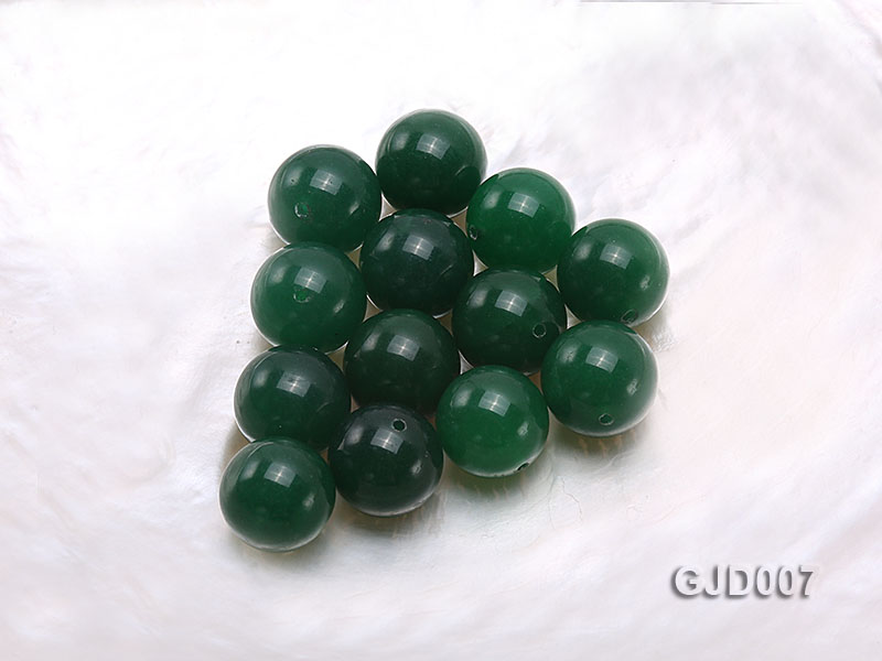 Wholesale 14mm Round Green Jade Beads  big Image 1