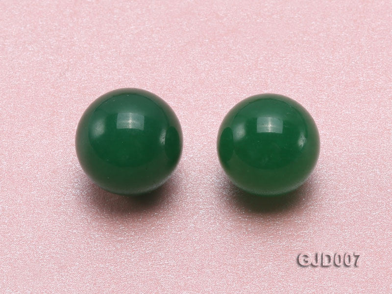 Wholesale 14mm Round Green Jade Beads  big Image 2