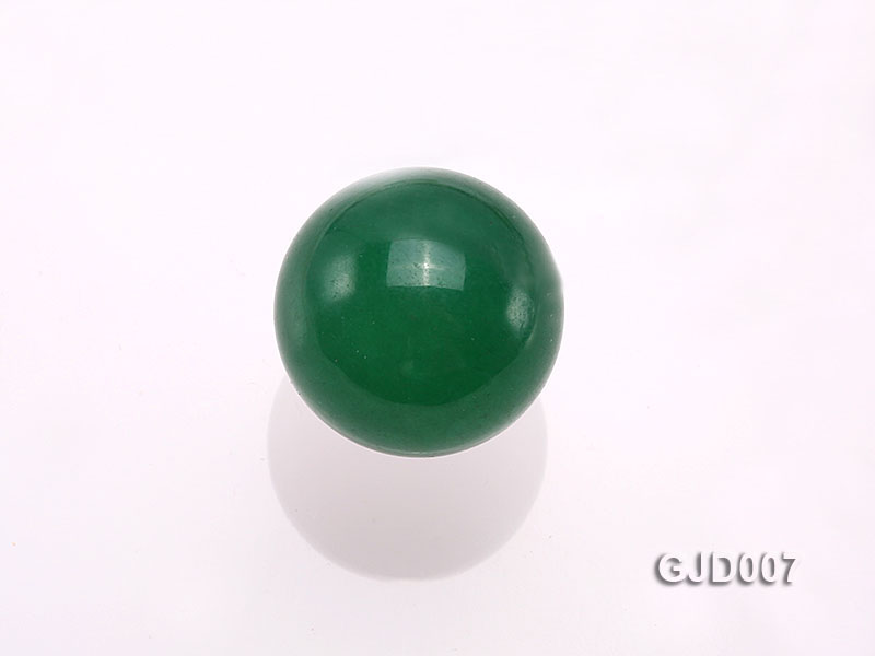 Wholesale 14mm Round Green Jade Beads  big Image 3