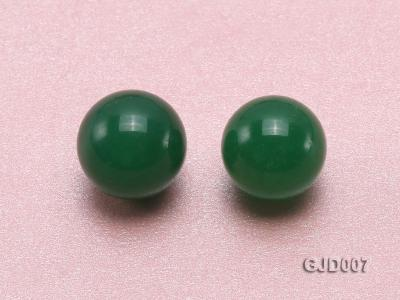 Wholesale 14mm Round Green Jade Beads  GJD007 Image 2