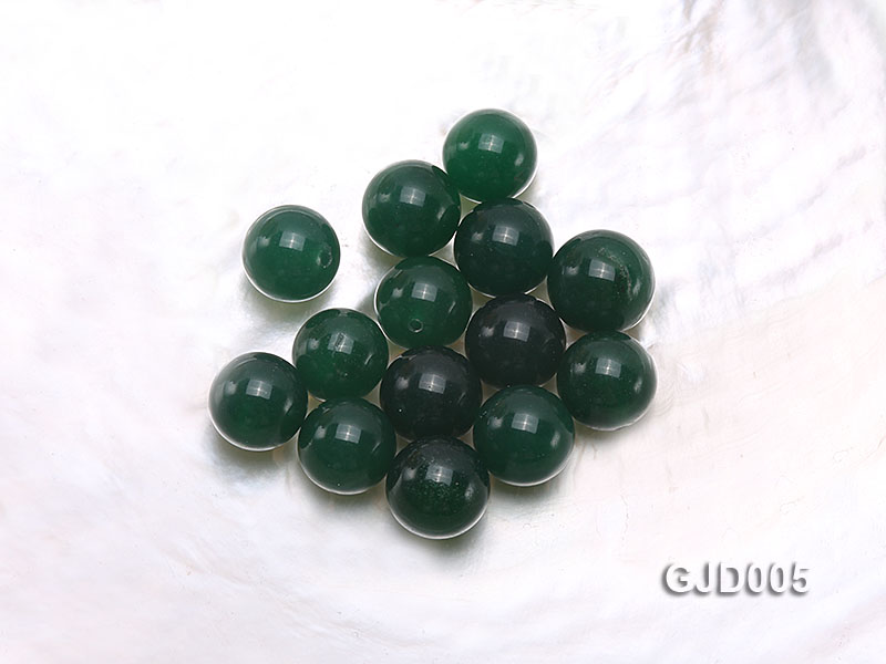 Wholesale 12mm Round Green Jade Beads  big Image 1