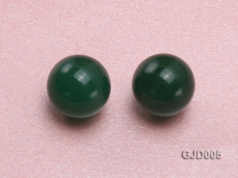 Wholesale 12mm Round Green Jade Beads  big Image 2