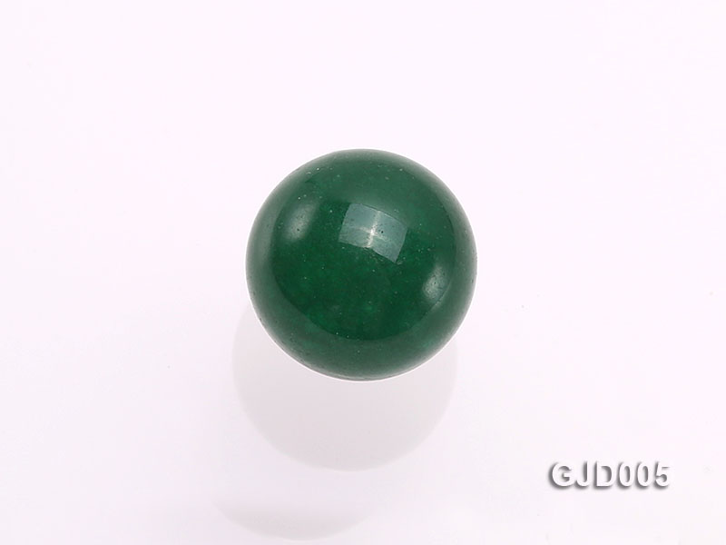 Wholesale 12mm Round Green Jade Beads  big Image 3