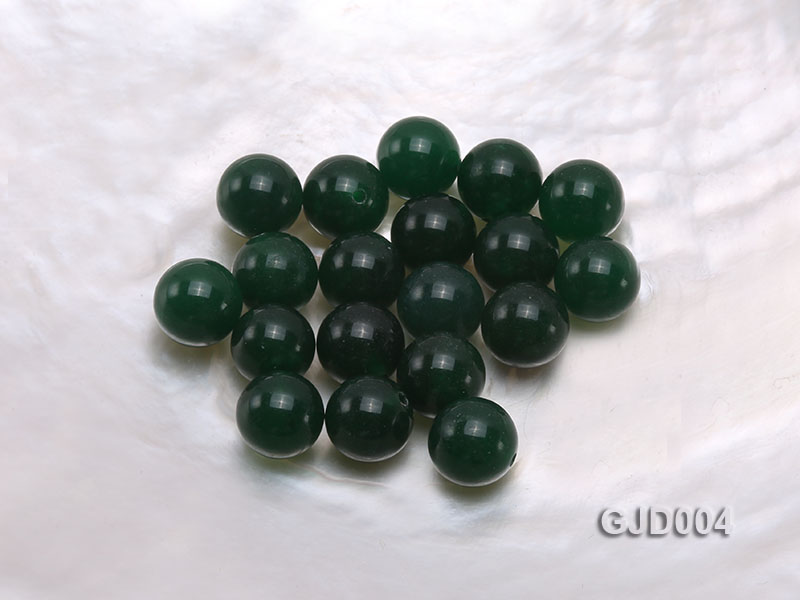 Wholesale 10mm Round Green Jade Beads  big Image 1