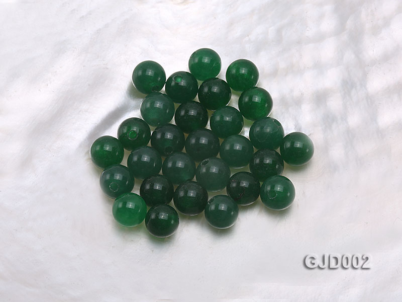 Wholesale 6mm Round Green Jade Beads  big Image 1
