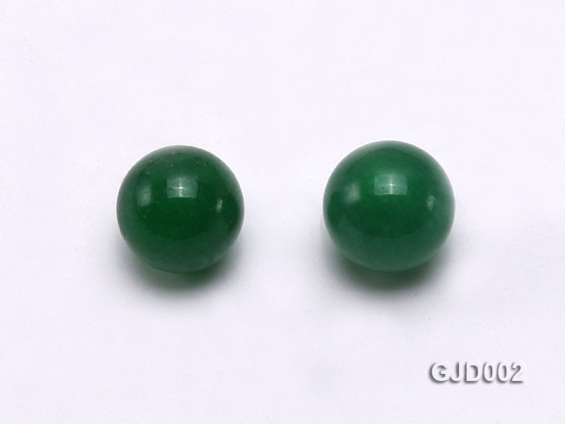 Wholesale 6mm Round Green Jade Beads  big Image 2