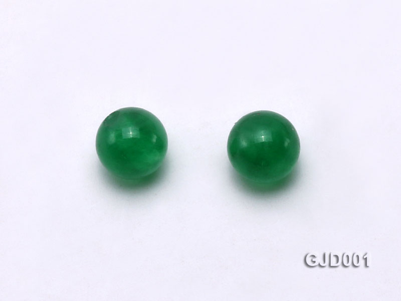 Wholesale 4mm Round Green Jade Beads  big Image 2