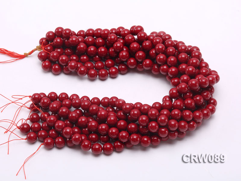 Wholesale 10mm Round Red Coral Beads Loose String big Image 3