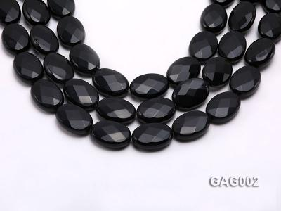 wholesale 18x25mm black faceted oval shape agate strings GAG002 Image 1