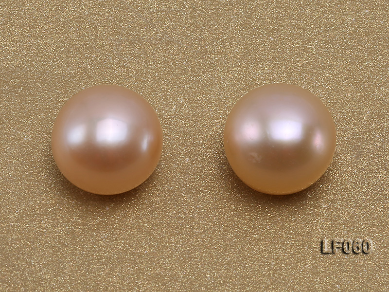 Wholesale Cards of AA-grade 9-9.5mm Pink Flat Freshwater Pearls---30 Pairs big Image 2