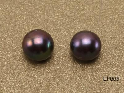 Wholesale Cards of 8-8.5mm Black Flat Pearls---33 Pairs LF063 Image 3