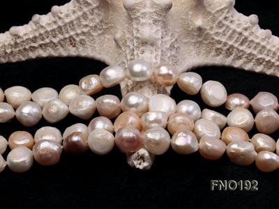 10-11mm white pink and purple freshwater pearl opera necklace FNO192 Image 3