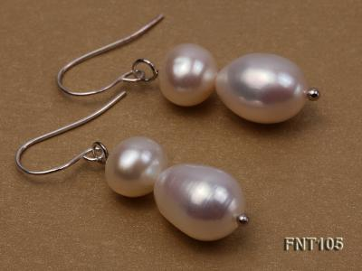 7-8mm White Freshwater Pearl Necklace and Earrings Set FNT105 Image 4