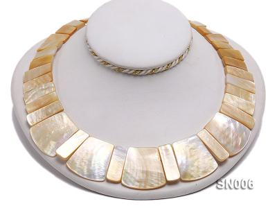 10x20-25x30mm White Shell Pieces Necklace SN006 Image 4
