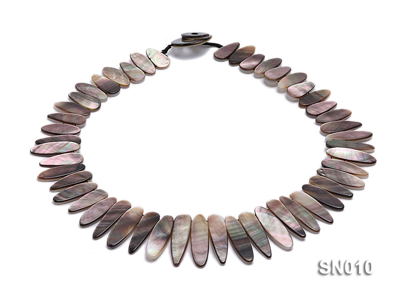 10x18-10x35mm Natural Shell Pieces Necklace big Image 1