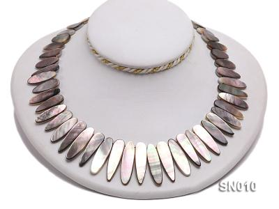 10x18-10x35mm Natural Shell Pieces Necklace SN010 Image 4