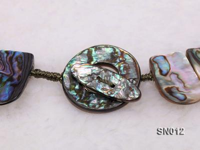 Irregular Colorful Abalone Shell Pieces Necklace SN012 Image 5