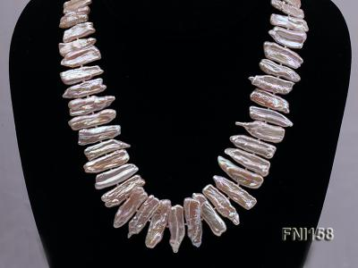 Classic 7x19-9x25mm Pink Tooth-shaped Freshwater Pearl Necklace FNI158 Image 2