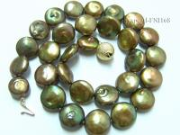 Classic 11-14mm Breen Button-shaped Freshwater Pearl Necklace FNI168