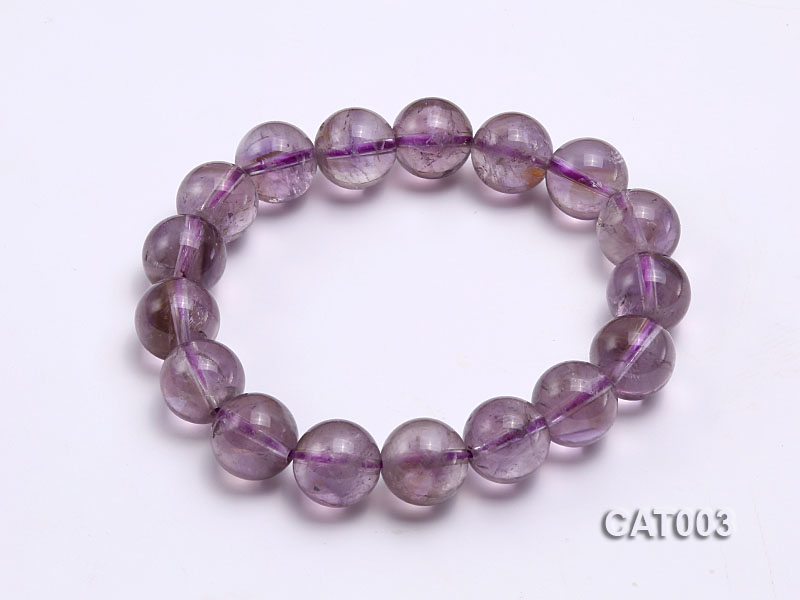 12mm Round Ametrine Beads elasticated Bracelet big Image 1