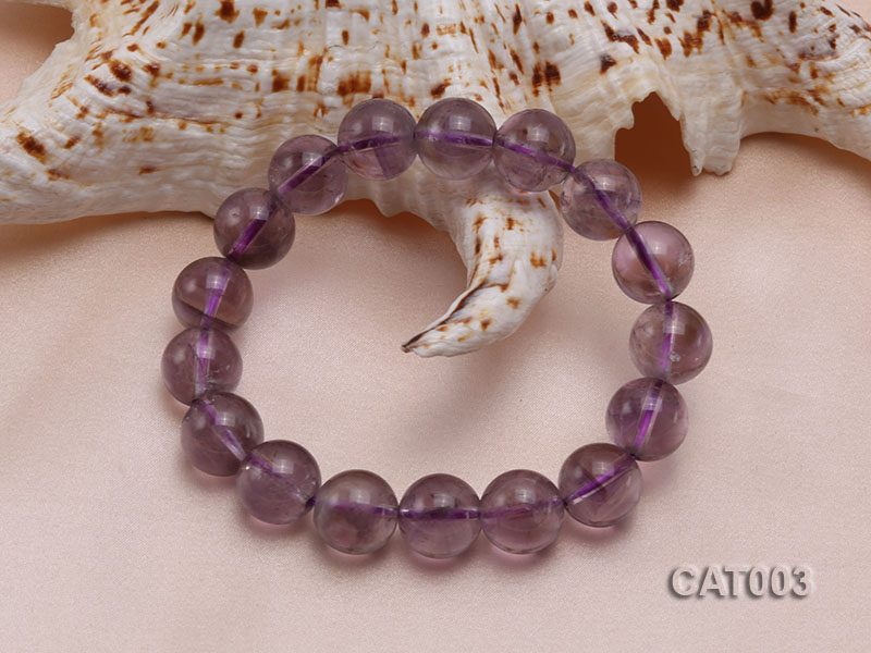 12mm Round Ametrine Beads elasticated Bracelet big Image 2